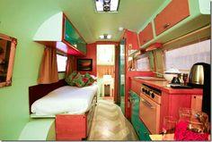 Restored vintage trailer