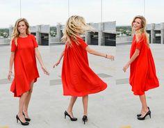 Kenzlady.blogspot.com Red dress Comfy