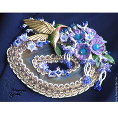 Купить Брошь «Тропический рай» - брошь, брошь ручной работы, подаро, подарок девушке