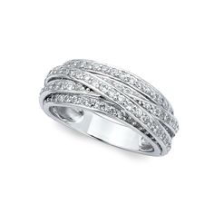 Crislu Criss Cross Ring