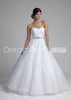Beaded Lace and Tulle Wedding Dress( $259.99)