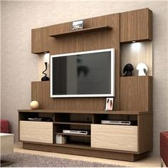 Lcd Unit Design Modern For Bedroom - Lcd Unit Design Bedroom Cupboard Designs, Tv Wall Design, Tv Unit Decor, Tv Decor, Home Decor, Tv Unit Furniture Design, Modern Interior Design, Tv Room Design, Furniture Design