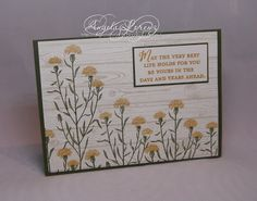 Angela Lorenz: Wild About Flowers, Hardwood Background stamp, Stampin Up, #stampinup #wildaboutflowers #hardwood