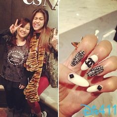 Chanel Nails For Zendaya February 7, 2013