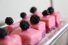 Berry Curd filled Petit Fours