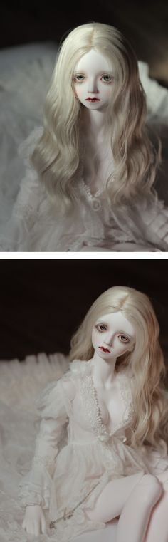 Limited Doll from Little Monica. Very nice face up here, she looks like a porcelain doll.  #bjd
