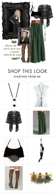 """""""Misty Day"""" by myshell-perez ❤ liked on Polyvore featuring ZENTS, Coven, Alexis Bittar, Oasis, Alice + Olivia, Forever 21, Tinley Road, Free People, Boots and maxiskirt"""