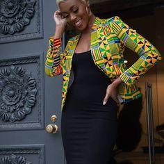 African Clothing/ Ankara Jacket/ Print/ Ankara print/ African Print - Women's style: Patterns of sustainability African Fashion Ankara, Latest African Fashion Dresses, African Dresses For Women, African Print Fashion, African Attire, African Women, Africa Fashion, African Outfits, African Print Top