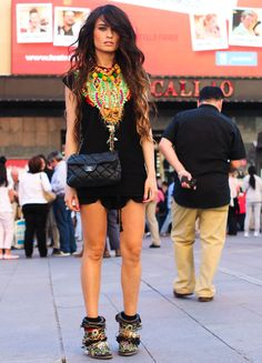 NECKLACE- Zaitegui, SHORTS- Zara New Collection, T-SHIRT- Zara, BOOTS- Sendra customized by Madame de Rosa, BAG- Chanel
