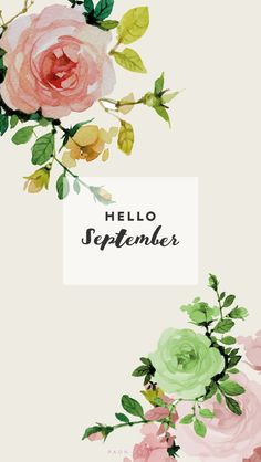 Hello september phone wallpaper