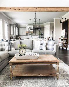 Cozy Farmhouse Living Room Design Ideas That Make Calm Atmosphere 29 Small Living Room Design, Living Room Modern, Living Room Designs, Living Room Lighting, Living Room Decor, Up House, Farm House, Beautiful Living Rooms, Decoration