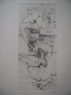 Hans Bellmer- Illustration de 1955, Pour Madame Edwarda de Georges Bataille, Ed° Georges Visat, 1965