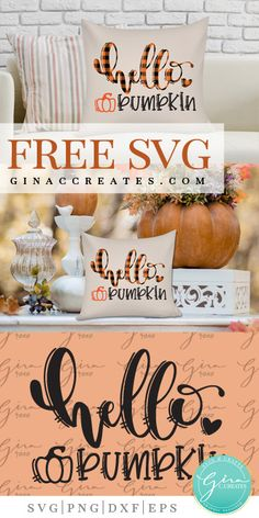 Hello Pumpkin Free SVG - Fall Shirts - Ideas of Fall Shirts - buffalo plaid fall decor pillow free pumpkin svg Buffalo Plaid, Free Svg, Cricut Tutorials, Cricut Ideas, Silhouette Projects, Silhouette Cameo, Free Silhouette, Silhouette Machine, Fall Plaid