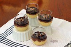 Mousse de Chocolate e Creme de Baunilha