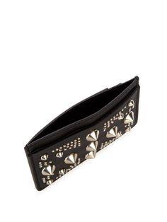 Alexander McQueen Studded leather cardholder