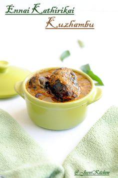 Oil Roasted Eggplant curry / Ennai Kathirikai Kuzhambu