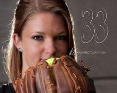 Senior girl softball portrait