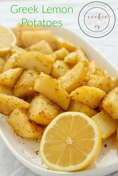 Greek Lemon Potatoes   #healthy #lemon   http://thecookiewriter.com