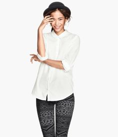 White cotton blouse H&M