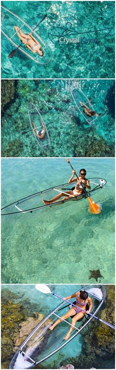 The Crystal Kayak is a totally crystal-clear kayak that lets users observe the underwater world below them! #affiliate