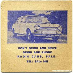 old taxi beermat