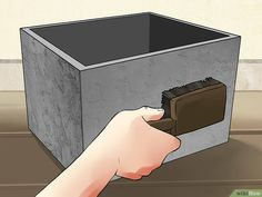 How to Make Concrete Planters (with Pictures) - wikiHow (Cement Step Diy) Concrete Planter Boxes, Cement Planters, Concrete Cement, Concrete Garden, Concrete Design, Diy Planters, Succulent Planters, Succulents Garden, Concrete Crafts