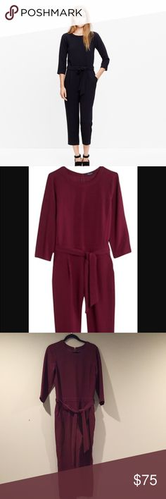 NWOT Madewell Sloane Jumpsuit Cabernet $138 NEW Madewell Sloane  Jumpsuit.  Size 4.  Fits true to size.  See photo for Madewell site description.  Perfect Fall color.  Reg 138. Madewell Other
