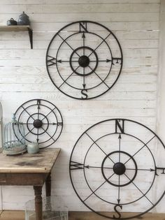 nice Nautical Wall Decor Metal Compass Wall Art by CamillaCotton...