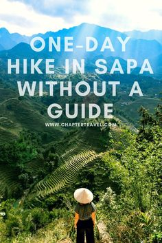 One-day hike in sapa without a guide, how to trek in sapa without a guide, pin this