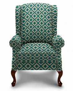 """Jennings High Leg Recliner - how to fulfill your husband's longing for a recliner without going down the """"Marty Crane"""" lane."""