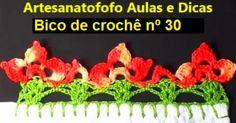VISITE MEU CANAL NO YOUTUBE! TODA 5ª FEIRA , GRÁTIS UMA NOVA VIDEOAULA DE ARTESANATO   Mais uma videoaula de crochê do meu canal Artesanat...