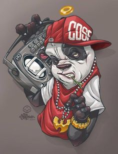 Graffiti art - The Monochrome Bear 2014 Ink and digital colouring Commissioned Graffiti Art, Graffiti Wallpaper, Arte Do Hip Hop, Hip Hop Art, Arte Dope, Dope Art, Cartoon Kunst, Cartoon Art, Dope Kunst