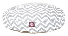 Majestic Pet Zig Zag Round Pet Bed - Free Shipping