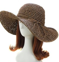 9a4a2f40893 Wowlife New Fashion Style Lady Woman Bohemia Summer Straw Sun Visor Wide  Large Brim Floppy Fold. Sun Hats ...