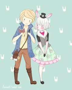 aonani10: Bunny and Alistair from EAH. Such cute characters!!! I love Alice in Wonderland<3