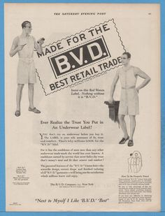 1927 B.V.D. Union Suit BVD mens underwear drawers knit shirt vintage clothing Ad | eBay