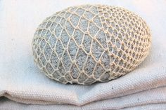 mudpuppyceramicstudio:  a woven stone I wish I had never given away…will make another someday.