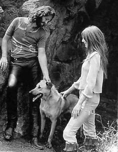 Jim Morrison and Pamela Courson and Friend.