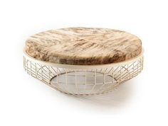 Round leather coffee table AIR | Coffee table - Mambo Unlimited Ideas