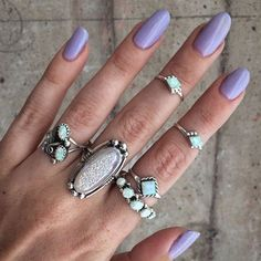 Child of Wild Midi Opal Ring, Custom Navajo handcrafted, Synthetic White Opal or Real Turquoise stone, Sterling Silver Midi Size 3