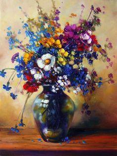 Glass Vase, Watercolor, Acrylics, Painting, Vases, Decor, Wall, Design, Hip Bones