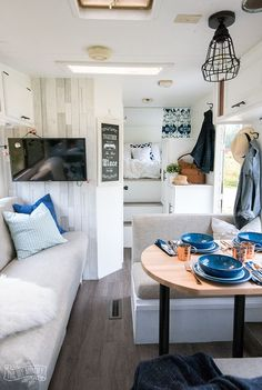 30 Creative Photo of Alluring Camper Van Remodel Ideas. Purchasing a camper van from a dealer is costlier than buying privately. Building your own camper van is a remarkable means of having a camper van wit. Caravan Renovation, Home, Remodel, Remodeled Campers, Vinyl Plank, Diy Camper