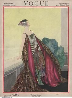 May 1st 1921 cover for the Smart fashions and Limited income themed issue.    Illustration by George Wolfe Plank