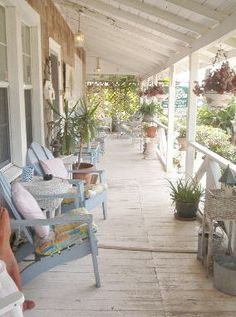 Porch | Watch the world go by at the Fig Tree Inn Bed & Breakfast located in Jacksonville Beach, FL.