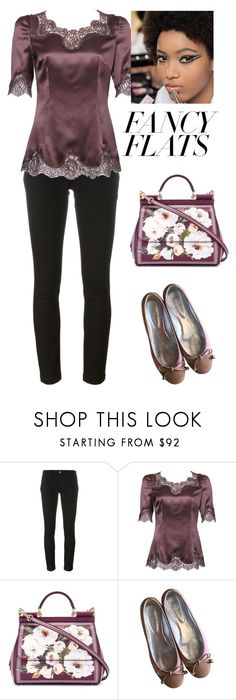 """""""Untitled #772"""" by viyansagvan ❤ liked on Polyvore featuring Dolce&Gabbana, Hogan and chicflats"""