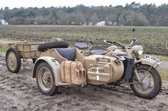 1943 BMW Motorcycles Sidecar Combo - BMW R75, R75, WW2 Motorcycle | Classic Driver Market