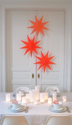bright star lighting is instantly festive.
