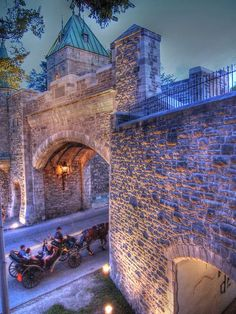 Quebec City (Canada) Gate. This city is sooo romantic at night!