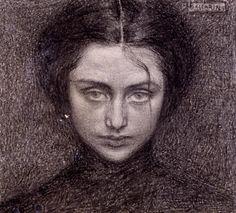 Domenico Baccarini (1882-1907) - celebre artista faentino ritratto  Elisabetta Santolini, soprannominata Bitta