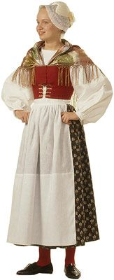 Naisen kansallispuku, Suur-Ii | Finnish folk wear/dress for women, Suur-Ii area